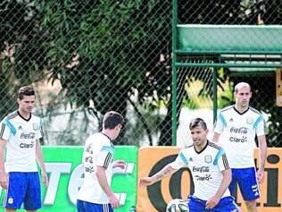 Argentina, que pode se classificar no próximo jogo, mostrou apenas os 15 minutos iniciais do treinamento para a imprensa