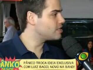 Luiz Bacci em entrevista ao 'Pânico'