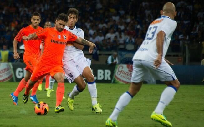 eabb810f7b Rafael Sobis tenta finalização ao gol do Cruzeiro. Foto  Bruno  Haddad Fluminense F.C.