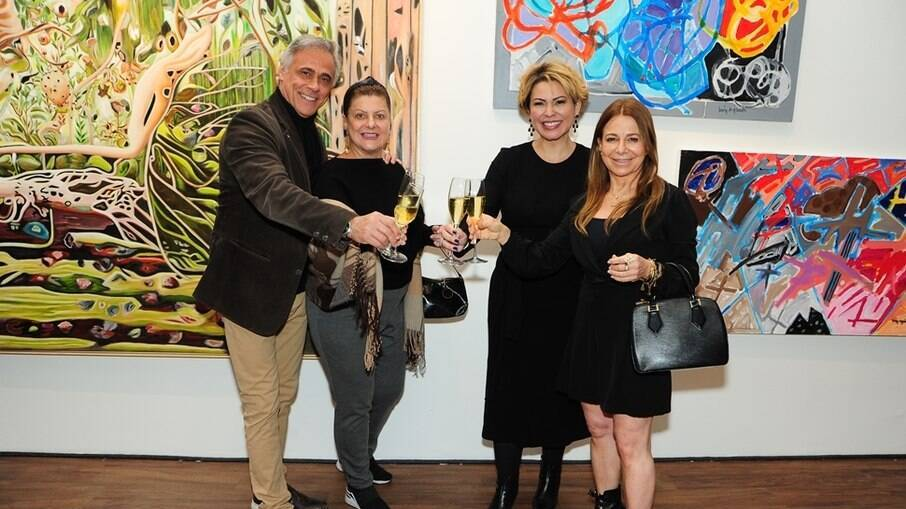 Oscar Magrini, Matilde Mastrangi, Dila Oliveira e Sonia Menna Barreto