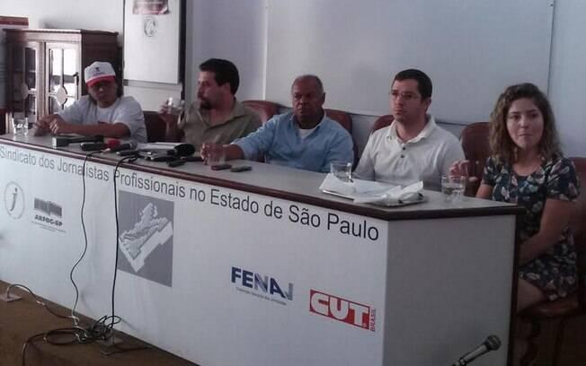 Índio, Guilherme Boulos, Adi dos Santos Lima, Renan Alencar e Carina Vitral, nesta segunda-feira