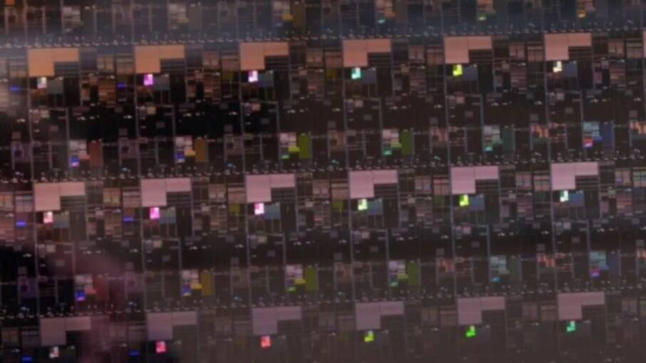 Wafer de chips de 2 nanômetros