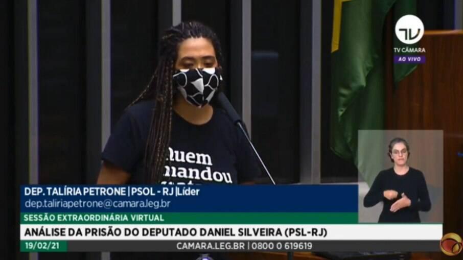 Deputada Talíria Petrone (PSOL-RJ) homenageou a ex-vereadora do Rio assassinada em 2018
