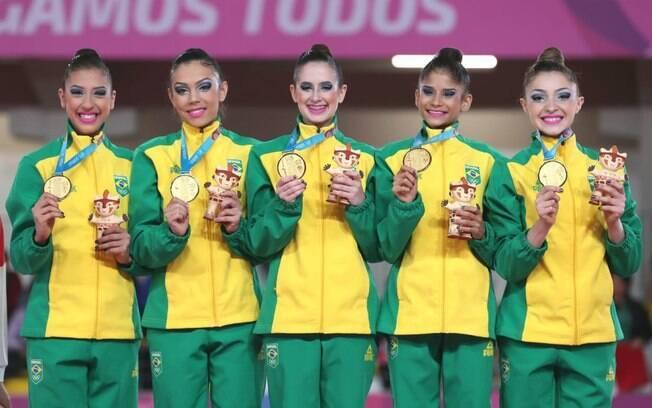 Brasil fica com o ouro na ginástica rítmica nos Jogos Pan-Americanos de Lima