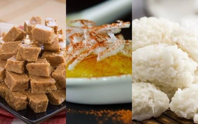 Cocada pode ser cortada em quadradinhos, mole, de forno e outras variações