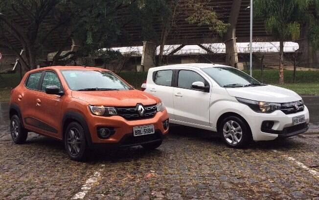 Renault Kwid tem porte compatível com o do Fit Mobi, mas sua concepção é ainda mais simples que a do rival