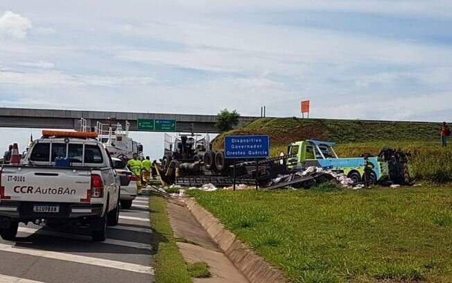 Motorista morre após capotamento no Anel Viário, em Campinas