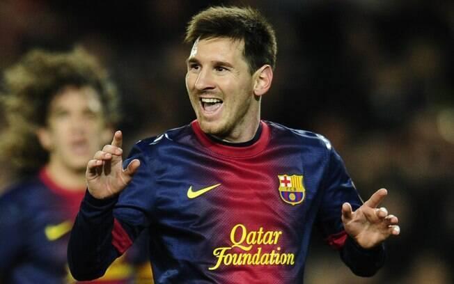 Messi marcou de pênalti o seu primeiro gol em  2013 na goleada sobre o Espanyol