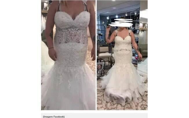 Vestido de casamento de uma noiva dá o que falar na web e internautas pedem, inclusive, para ela repensar a escolha