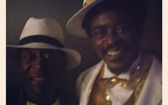 ... e Pelé durante o show de encerramento das Olimpíadas de Londres