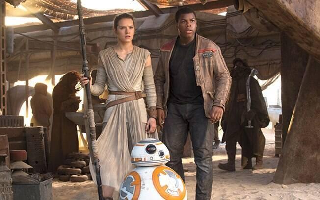 A história de Finn e Rey só continuará em dezembro de 2017