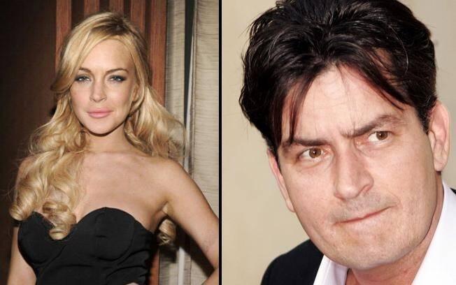 Lindsay Lohan e Charlie Sheen: faturando alto com o Twitter