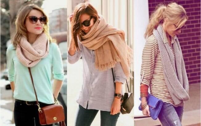 Diferentes dos lenços e echarpes, os cachecóis não são recomendados para a primavera por serem de tecidos pesados