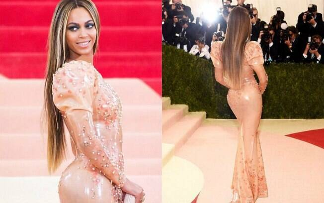 Beyoncé no modelito de látex