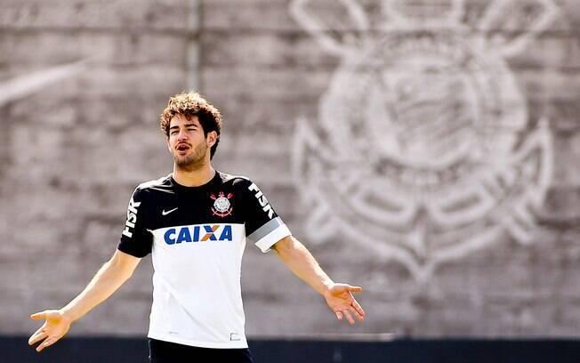 Alexandre Pato em treino no Corinthians