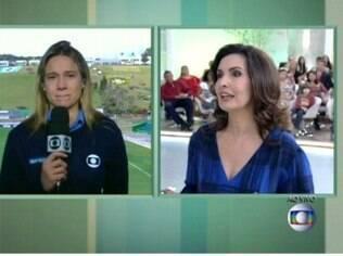 Fernanda Gentil chora ao vivo e é consolada por Fátima Bernardes