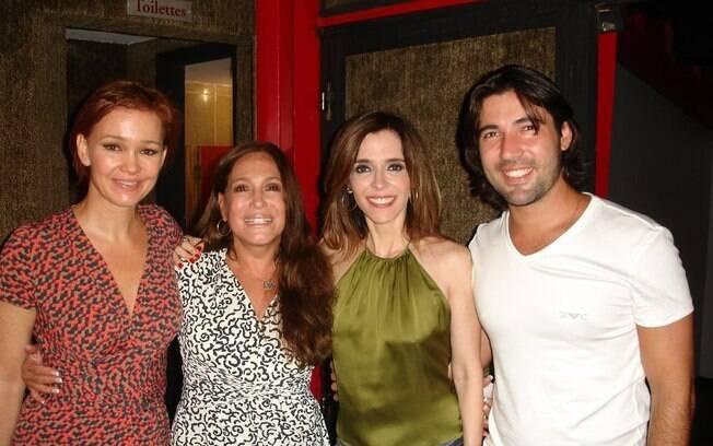 Julia Lemmertz, Susana Vieira, Deborah Evelyn e Sandro Pedroso neste sábado (03), no Rio de Janeiro