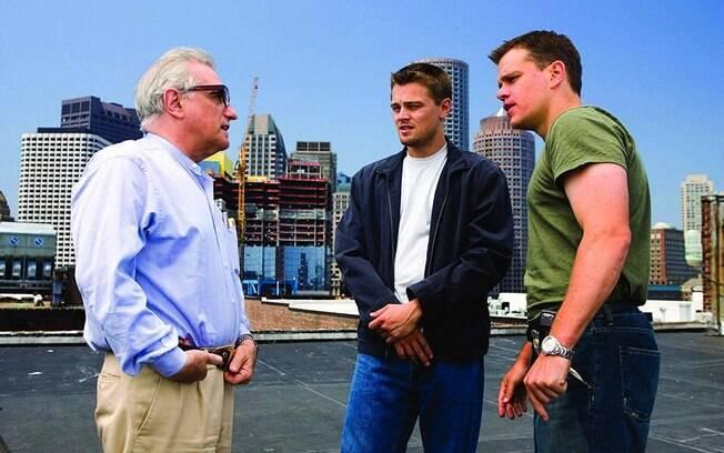 Martin Scorsese dirige Leonardo DiCaprio e Matt Damon no set de
