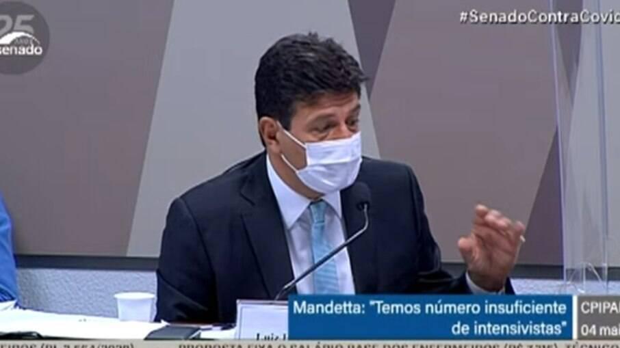 Ex-ministro da Saúde, Luiz Henrique Mandetta depôs na CPI da Covid nesta terça (4)