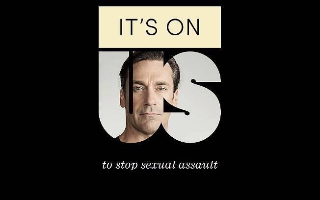 Jon Hamm é um dos porta-vozes da campanha contra a violência sexual nos EUA