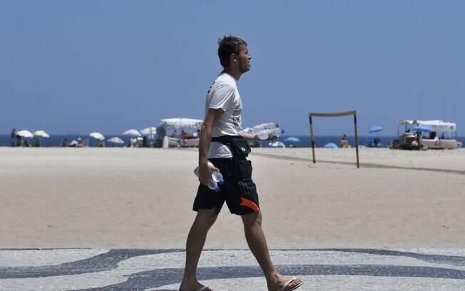 Recorde de sensação térmica registrado neste sábado (11) no Rio de Janeiro