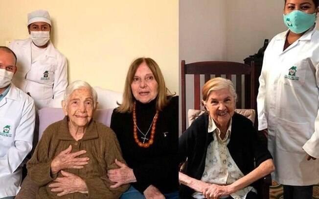Irmãs, idosas de 100 e 96 anos se recuperam da Covid-19
