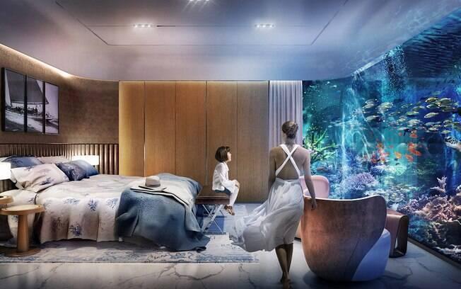 Nessas casas, os moradores sentirão como se estivessem vivendo dentro de um luxuoso aquário