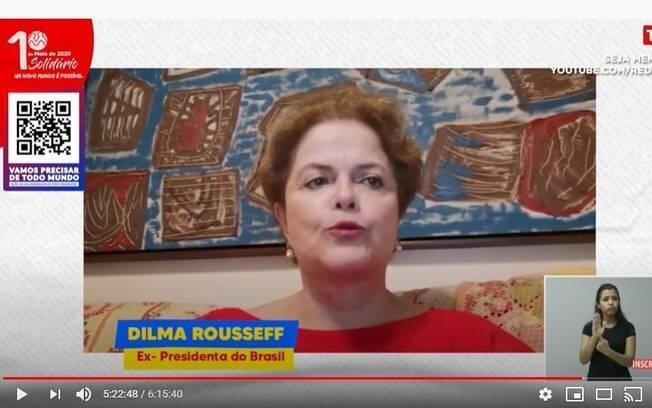 A Ex-presidenta Dilma Rousseff foi uma das participantes da live 1º de maio virtual