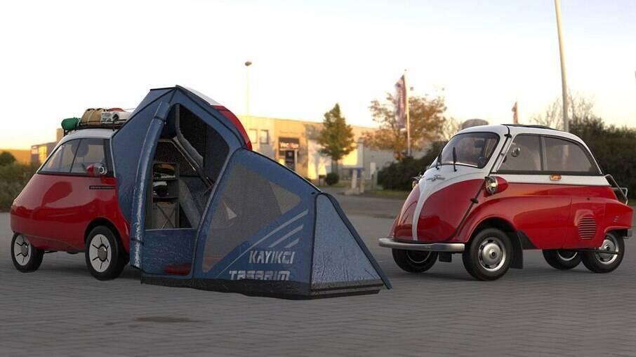 Microlino 2.0 Camper: barraca adaptada ao pequeno modelo elétrico que começará a ser vendido em setembro