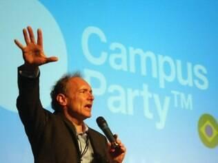 Tim Berners-Lee, um dos criadores da web, marcou presença na Campus Party 2011
