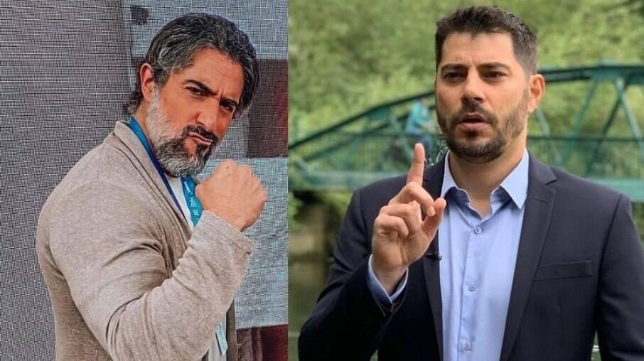 Marcos Mion e Evaristo Costa