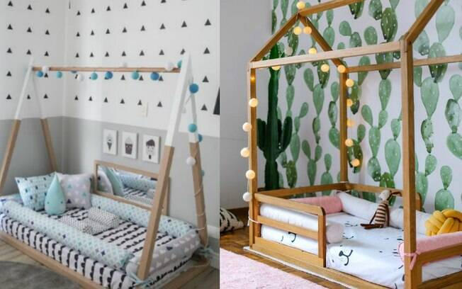 Na hora de escolher a cama baixa ou o uso de apenas um colchão no chão, vale a pena considerar a idade da criança