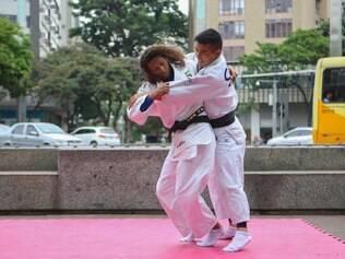 Esportes / Confins /  Minas Gerais -  BRASIL / Acao de marketing para promocao do Desafio Internacional de Judo.  Foto: Uarlen Valerio/ O tempo - 20-10-2014
