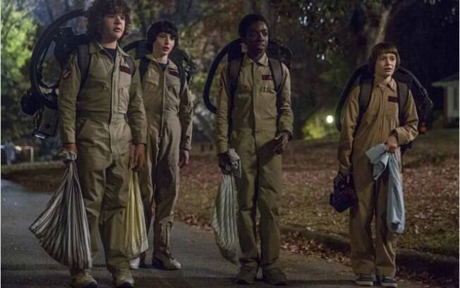 Os caça-fantasmas de Stranger Things