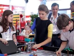 ECONOMIA . BELO HORIZONTE MG  Olimpiada do Conhecimento traz a Belo Horizonte o Festival Internacional de Robotica  FOTO: LINCON ZARBIETTI / O TEMPO / 02.09.2014