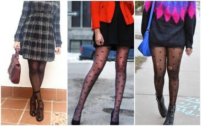 Meia-calça: transparência desenhada