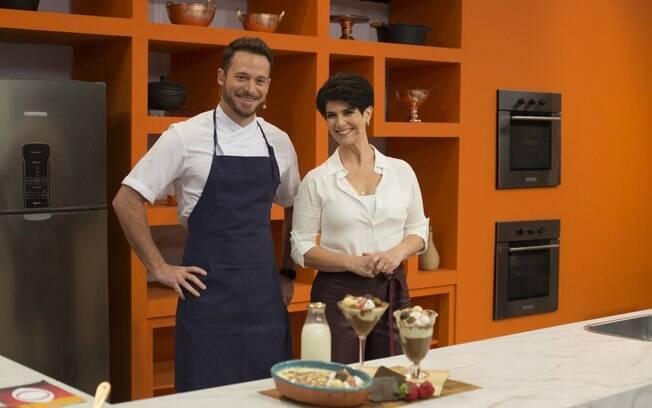 Mariana Godoy e o chef Dalton Rangel