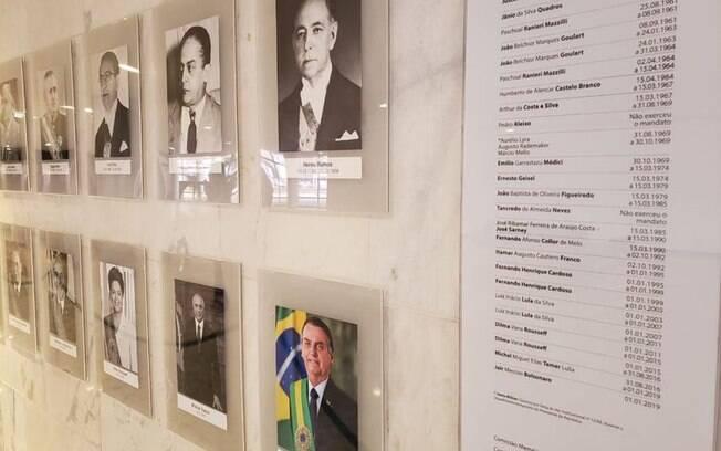 Foto do presidente Jair Bolsonaro foi colocada na galeria dos presidentes nesta quarta-feira