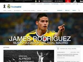 Acerto com James Rodríguez é destaque no site oficial do Real Madrid