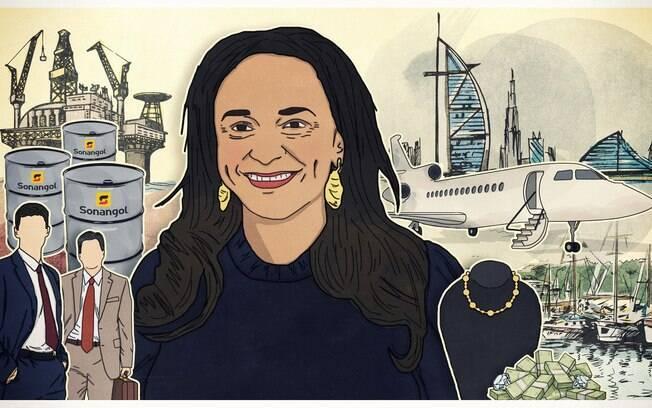 Informações privilegiadas e empresas de fachada moldaram caminho da filha do ex-presidente angolano