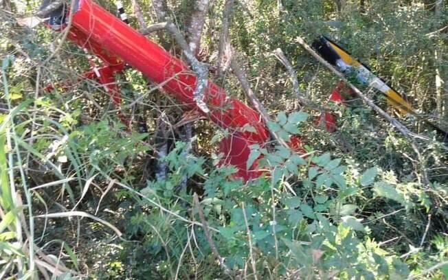 Helicóptero caiu no interior de SP