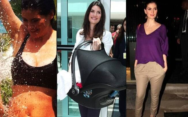 Isabella Fiorentino: de volta à antiga silhueta em menos de três meses