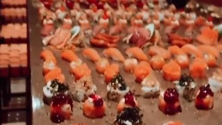 Mesa infinita de sushi de Marcos Mion