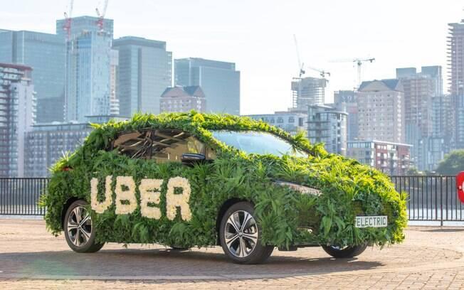 "A ""Uber Green"" quer usar 100% veículos híbridos e elétricos até 2040"