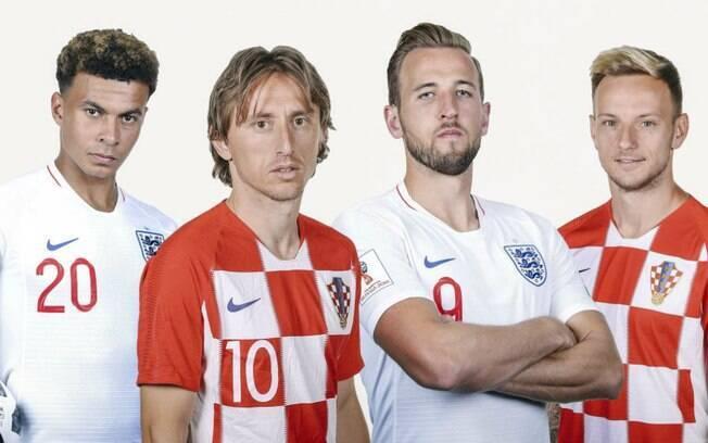Seleções de Croácia e Inglaterra veem no jogo desta quarta-feira chance única para entrar para a história