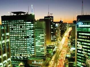 A agitada avenida Paulista, principal centro financeiro do País