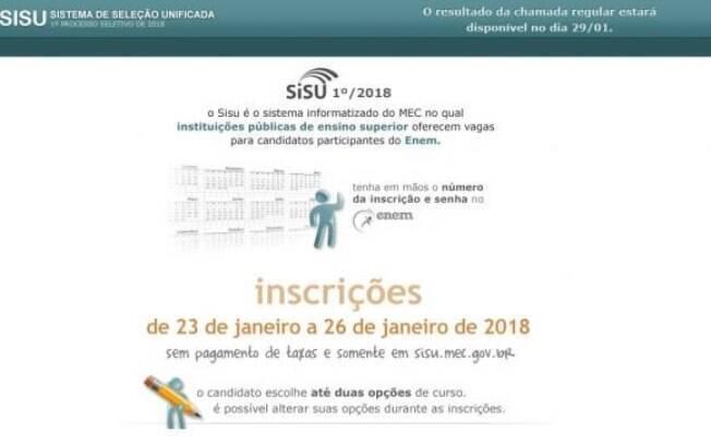 Aprovados na 1ª chamada do Sisu 2018 devem procurar as instituições de ensino para se matricular e garantir vaga