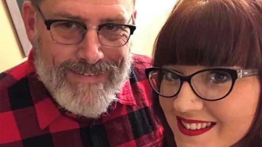 Erica e o marido dela, que costumava ser sogro