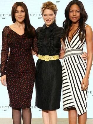 Monica Bellucci, Léa Seydoux e Naomie Harris no anúncio de