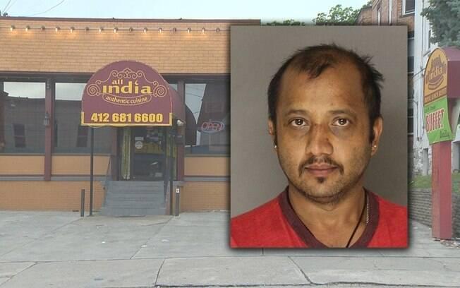 Bêbado, o homem ameaçou os funcionários de restaurante indiano porque encontrou cebolas em sua comida